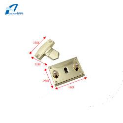 La lumière de l'or Accessoires de cas de matériel en alliage de zinc avec Pearl Handbag verrouiller