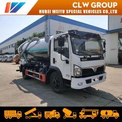 Dongfeng 8000 litros de aguas residuales de camiones de aspiración de 8m3 4X2 camiones de limpieza