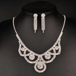 Venta caliente Bisutería de cristal colgante de instrucción de las cadenas de varios nupcial mayorista Collar de perlas de las mujeres
