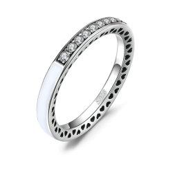 925 Sterlingsilber-Ringe CZ-Diamant-Hochzeits-Band-Ewigkeit-Ring-Brautschmucksache-Set