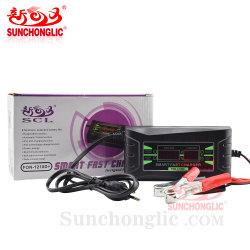 LCD van Sunchonglic Lader van de Batterij van de Vertoning de Universele de Lader van de Batterij van 12 Volt