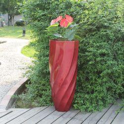 Fo-236 Усиленный пластик Flower Pot стекловолоконные сад ваза современных сеялок для установки вне помещений