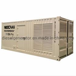 Silence 1000KW 1250kVA Groupe électrogène de puissance avec certificat CE diesel