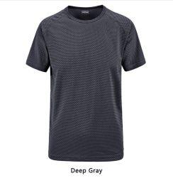 Qualitäts-Sommer-Kurzschluss-Hülsen-beiläufige Shirt-Baumwollkleidet Breathable runde Stutzen-Freizeit Sport-Hemden