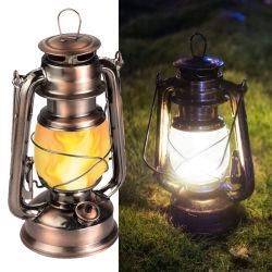 Voyant d'antiquités à gradation de l'ouragan lampe à huile de Lanterne éclairage de la flamme du kérosène lanterne rechargeable