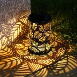 Indicatori luminosi solari d'attaccatura decorativi della lanterna del reticolo del foglio del metallo del patio esterno
