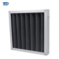 Filtro de aire de carbón activo con filtro de placa de bastidor de metal