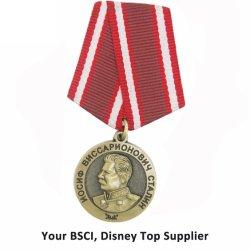 Hochwertige Metallbläser Ehren Militärabzeichen mit Band
