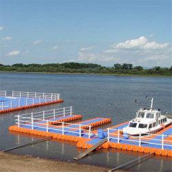 Agua Vanace Bote de plástico HDPE pontón flotante de barcos