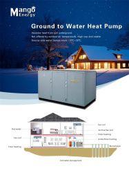 Bodenquellwärmepumpe, grünes Haus-Heizung, Heißwasserbereiter, Klimaanlage