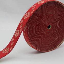 Sangle élastique Jacquard rouge traditionnelle, le polyester antistatique, ruban de nylon pour vêtements Accessoires