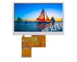 Nextek 4.3'' Angle de visualisation de l'utilisation de plein air gratuit 400 nits 800*480 LCD avec panneau tactile résistif