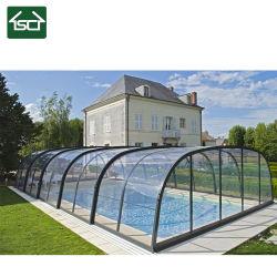 Cobertura piscina de Inverno com 900kgs/metro quadrado suportar carga de neve