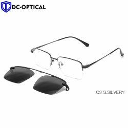 Поляризованный магнитный держатель на солнечные очки Мужчины Женщины магнитных очки кадры для очков металлический оптический очки рамы