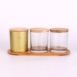 O Dia das Bruxas castiçal de vidro vidro suporte para velas de recreio para decoração