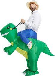 Aufblasbares Halloween Dinosaurier Kostüm für Männer, Blow Up Kostüme für Erwachsene, T Rex Kostüm