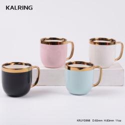 Керамической посуды из фарфора кружки с золотом для оптовых