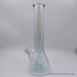 14 pulgadas Color siete Electroplated vaso de precipitados de vidrio de vidrio de boca de elefantes de Hookah fumar pipa de agua