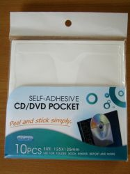 /DVDの自己接着CDポケット正方形YP-31