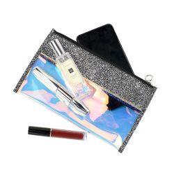 PU Handbag Cosmetic Coin Purse 방수 Laser PVC 숙녀 펜 부대 선전용 색안경 클러치 숙녀 지갑 지퍼 저장 주머니 부대 2