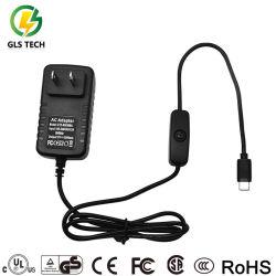 Cargador de alta calidad de fabricación de 5V 3A 3AMP 3000mA tipo C USB Adaptador de alimentación con interruptor on/off para Raspberry Pi 4 Modelo B