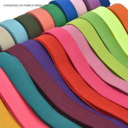 La mode Soft tissé de polyester colorées Bande élastique pour les vêtements