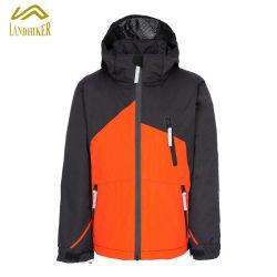 Контрастный цвет детский зимний Padding лыжную куртру детей Водонепроницаемый для использования вне помещений слой и куртка