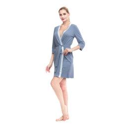 Hochwertige Komfortable Schlafanzug 100% Baumwolle Sexy Frauen Robe
