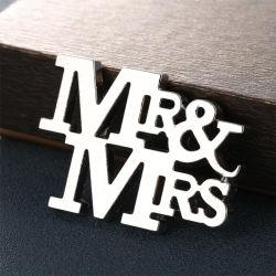 ゲストのためのOpener Wedding Favors Gifts銀製の氏及び夫人