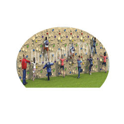 جدرانها مزينة بلوحات جدرانها الصخرية البلاستيكية في الهواء الطلق