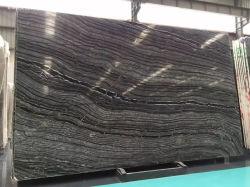 Zebra naturel noir gris dalles de marbre antique du grain du bois pour l'intérieur d'un comptoir de cuisine revêtement de sol de paroi