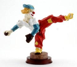 Figurine del pagliaccio di Polyresin, figura del pagliaccio della resina