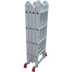 4,7 mètres Petites charnières en aluminium aluminium&Multipurpose Escabeau pliable avec des non Base de patinage