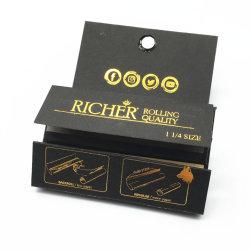 El logotipo de oro en 1 Grinder Bandeja++Consejos crudos fuma Weed Rolling Papers