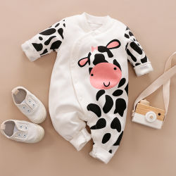 Оптовая торговля животными непринужденной повседневной весной и осенью длинной втулки хлопок пижама для новорожденных Младенческая Детского