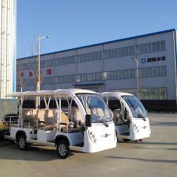 Bus di spola turistico facente un giro turistico dei veicoli dei nuovi passeggeri dell'aeroporto 11