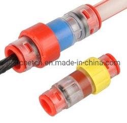 ガス / ウォータブロックマイクロダクトコネクタは、フルードがに流入するのを防止する マイクロダクト光コネクタ