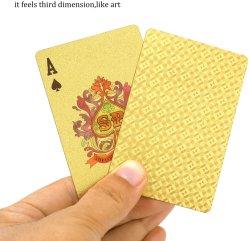カスタム 24K 金フォイルめっきプレーングカード Golden 999.9 Gold めっきされたアマゾン上の売主ポーカーの遊ぶカード