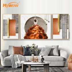 Женщина современные настенные художественных росписей для гостиной оформлены