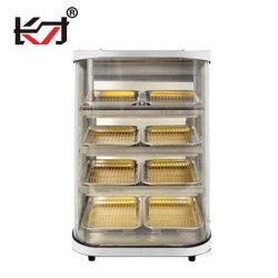 Dzcf-4f/8p عرض جهاز تسخين وجبات خفيفة بار مطعم مطبخ حفظ الطعام دافئة عرض معدات الخزانة مع الزجاج الكهربائي