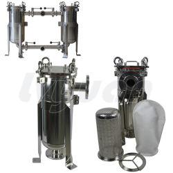 Solo tanque de acero inoxidable SS304 316L Filtro de agua de la bolsa de líquido para el flujo de caja grande de agua/vino/cerveza/Leche Filtration 20t por hora