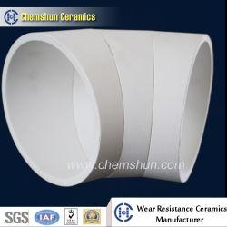 Resistente al desgaste del tubo de cerámica de alúmina de Material de revestimiento para sistema de transporte
