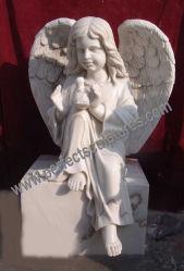 Granite di marmo Angel Headstone con Angel Tombstone Angel Monument (SY-X051)