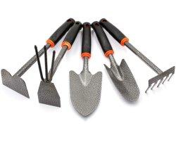 Heavy Duty 5 piezas Conjunto de herramientas de jardinería regalos Non-Slip con empuñadura de goma
