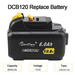 Batteria ricaricabile dello Li-ione del rimontaggio di Dcb120 10.8V 6A compatibile con la batteria dell'attrezzo a motore di Dewalt Dcb121 Dcb120 Dcd700 Dcd710 Dcd710s2 Dcf610 Dcf610s2 Dcf805