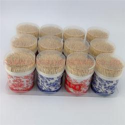 2020 Hot Sale bambou jetables double fait 2.0mm Tooth Pick cure-dents du papier d'enrubannage avec bouteille d'emballage différent pour une utilisation quotidienne
