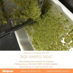 Bqf ha sbucciato l'uva senza semi, polpa dell'uva di Bqf, Bqf ha sbucciato l'uva, uva sbucciata congelata Bqf, carne dell'uva di Bqf, congelato dell'uva, sbucciato, senza semi