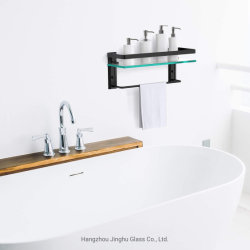 Home Decorationのための8mm Wall Mounted Bathroom Tempered Glass Shelf
