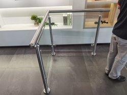 سكة حديد زجاجية مطلية بالمعدن الداخلي / الخارجي من الفولاذ المقاوم للصدأ مع ISO9001 باليه سترايد/رايلو للبالكون/الشرفة/السلم/السلالم من مصنع الصين