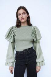 Пружина Одежда повседневная одежда трикотажные Топс моды женщин свитер трикотажных изделий